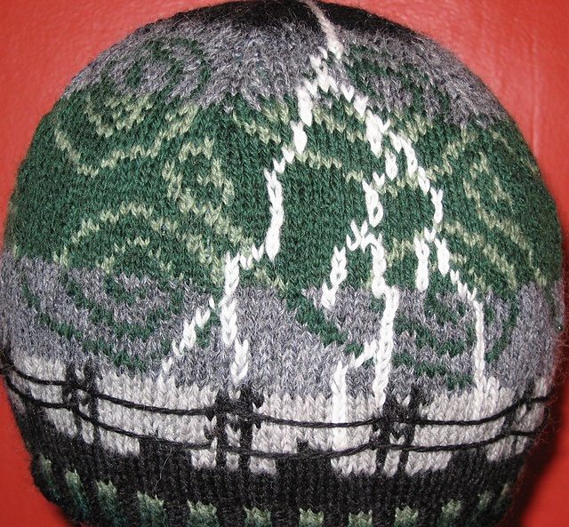 love it. would probably hate knitting it (hate colorwork) but it's an awesome hat.