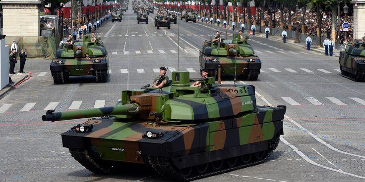 Les chars Leclerc de retour/défilé du 14 juillet 2016