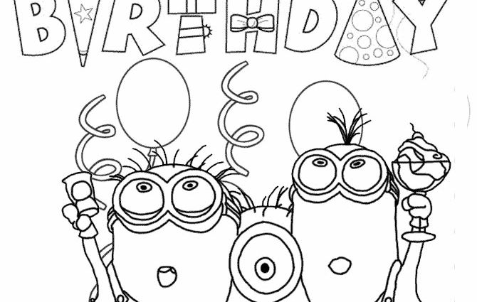 151 best images about minion party on pinterest minions for Minion birthday coloring pages