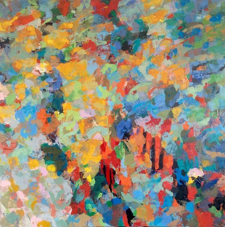 LAPLANCHE Abst #102 - 2106 Peinture à l'huile sur toile 100 x 100 cm  Oeuvre signée - Certificat d'authenticité   Prix: 3,200 €