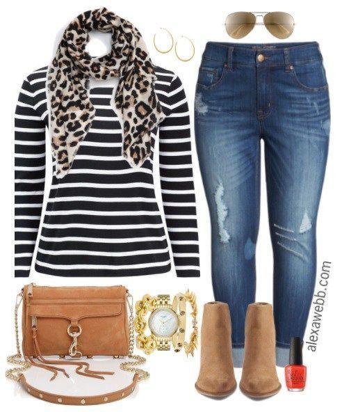 Plus Size Fall Basic Outfit - Plus Size Fall Outfit Idea - Plus Size Fashion for Women - alexawebb.com #alexawebb