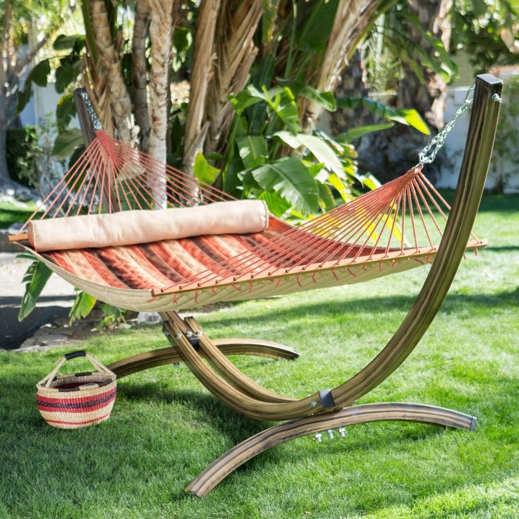 island bay faux woodgrain metal arc free standing hammock stand hammock stands u0026 accessories at