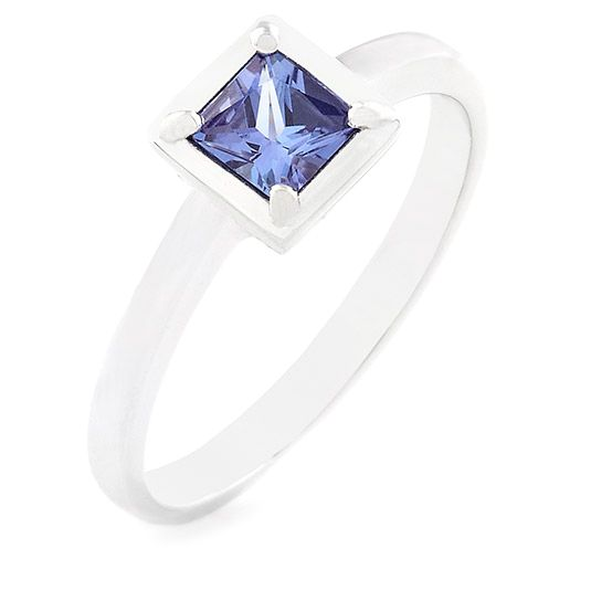 18 carat white gold and tanzanite ring