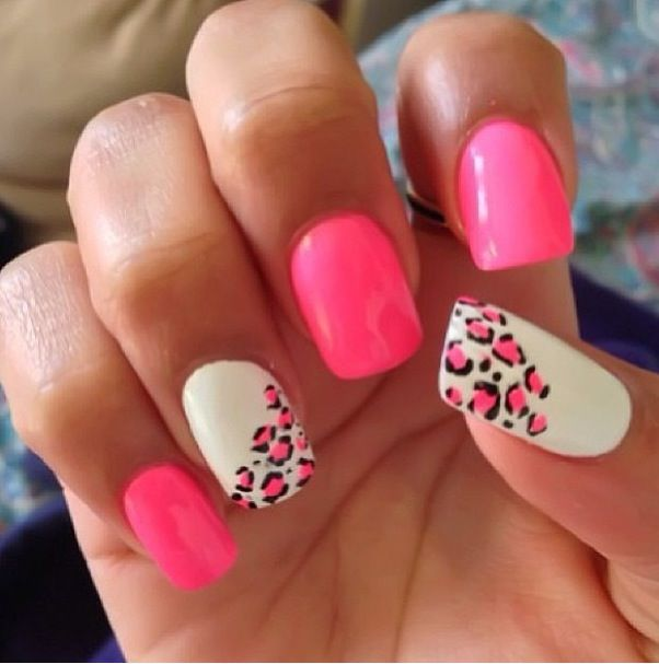 cheetah print nail design nails