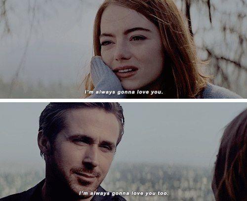La La Land 'I will always love you' Ryan Gosling, Emma Stone #lalaland