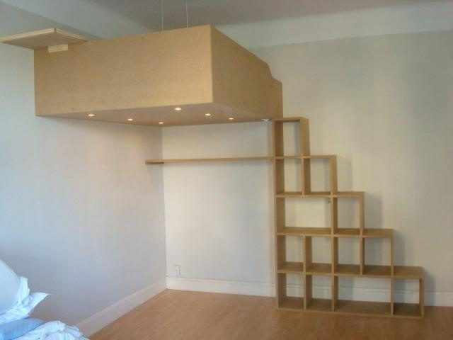 Interior, loft bed, design, small space solution
