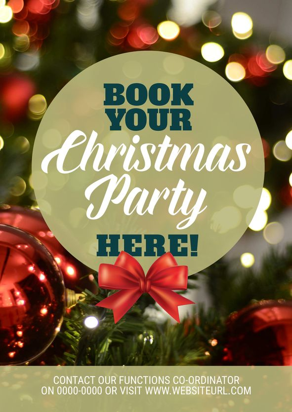 Use this Christmas Party promotional template for your event this year! Use this existing template or customise it as much as you like. Visit easil.com to get started!