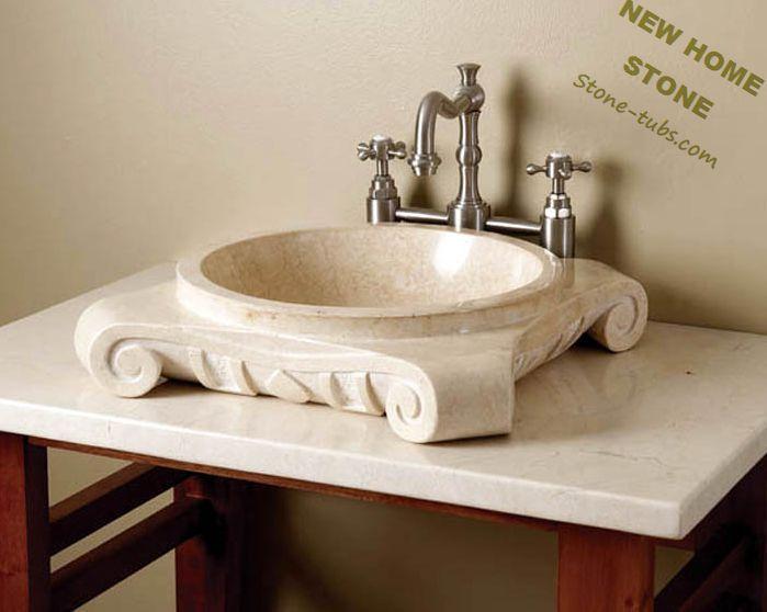 Aliexpress.com: New Home Stone Bathより信頼できる 食べ物をシンク サプライヤからアンティーク浴室の洗面化粧台ベージュ大理石彫刻カウンター シンク で足洗面台石メーカー カスタム直接を購入します