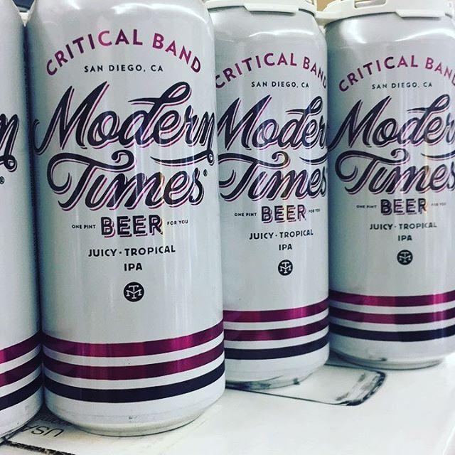 CRITICAL BAND now available @moderntimesbeer #criticalband #tropicalipa #ipa #hoppy #ale #beer #beerporn #beerstagram #beersnob #beeradvocate #beergeek #craftbeer #craftbeerporn #craftbeerlover #localbeer #drinklocal #buylocal #fhbottleshop #sandiego #sandiegobeer #lamesawineandspirits #lamesa #cheers #sandiego #sandiegoconnection #sdlocals #sandiegolocals - posted by La Mesa Wine and Spirits https://www.instagram.com/lamesawineandspirits. See more San Diego Beer at http://sdconnection.com