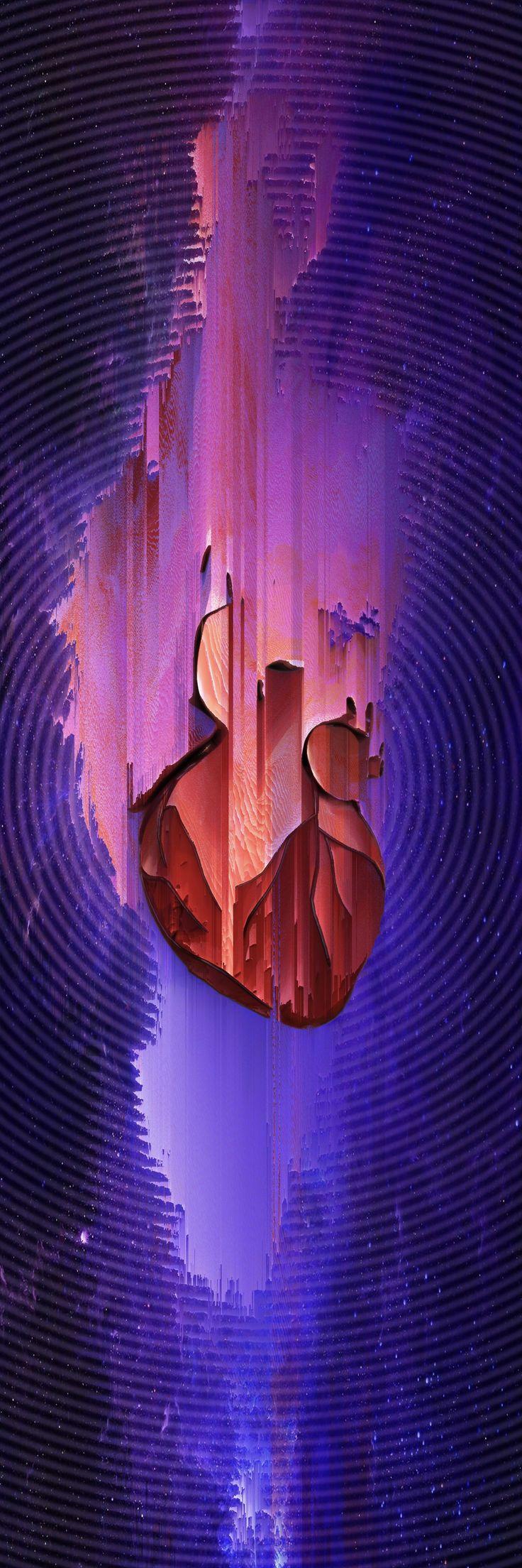 My heart bearing  #design #digital #edit #photoshop #digitalart #vaporwave #glitch #pixelsorting  #nebula