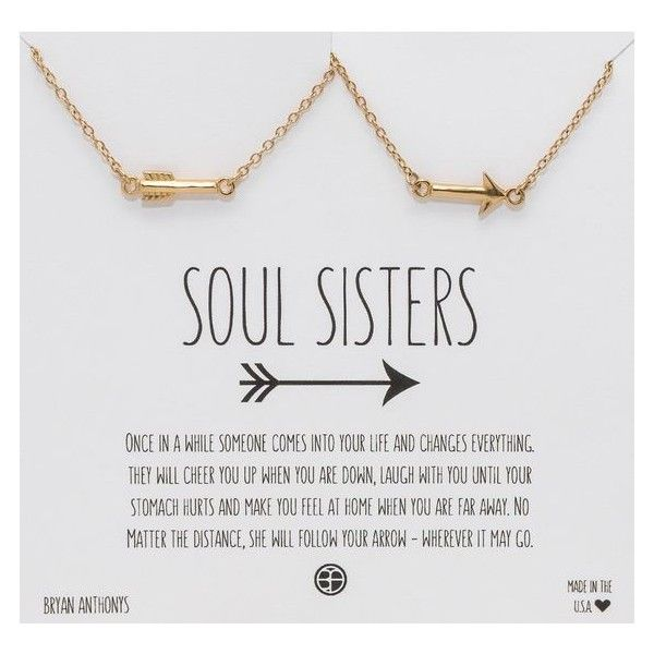 SOUL SISTERS BEST FRIEND ARROW NECKLACES ❤ liked on Polyvore featuring jewelry and necklaces