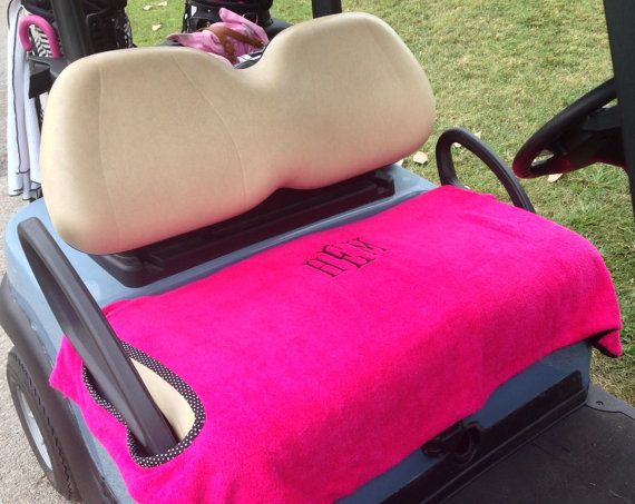 2 Sided Monogrammed Golf Cart Seat Cover by GolfMeAround on Etsy