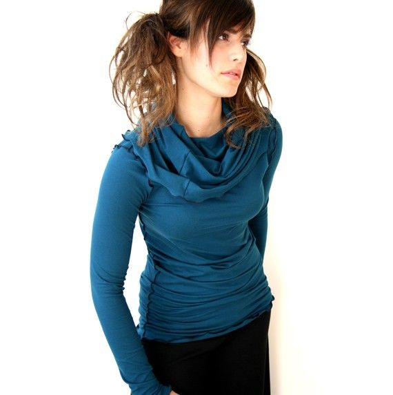 long sleeve cowl top by treehouse28 on Etsy, $52.00