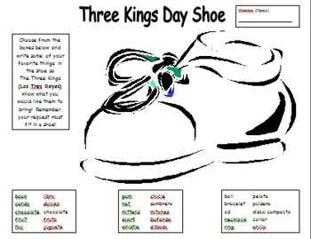 Three Kings Day Activity by Sue Summers - El Dia de los Tres Reyes.