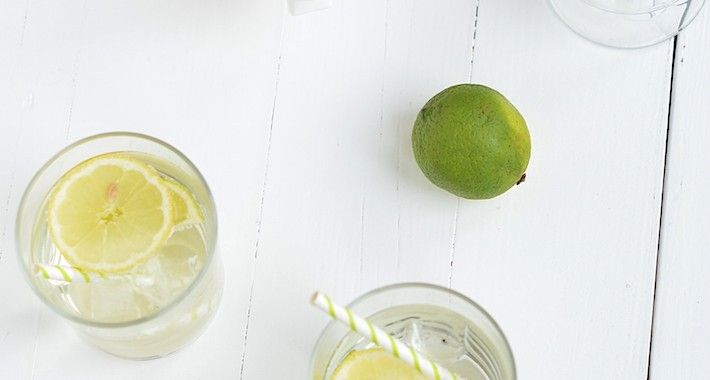 Witte sangria met limoncello