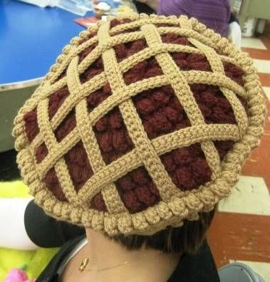 Crochet Pie Hat. I must have one.