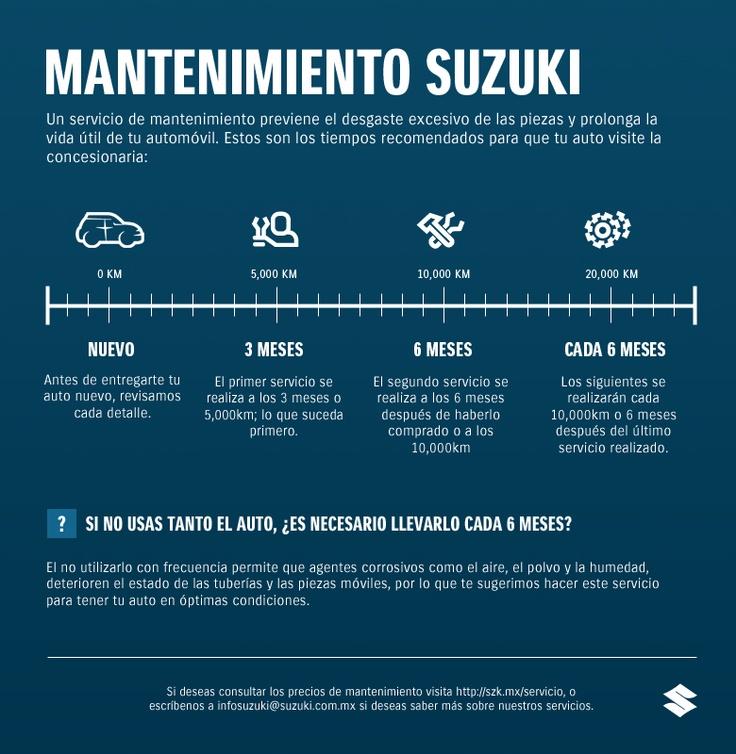 Tiempos para darle servicio a tu Suzuki