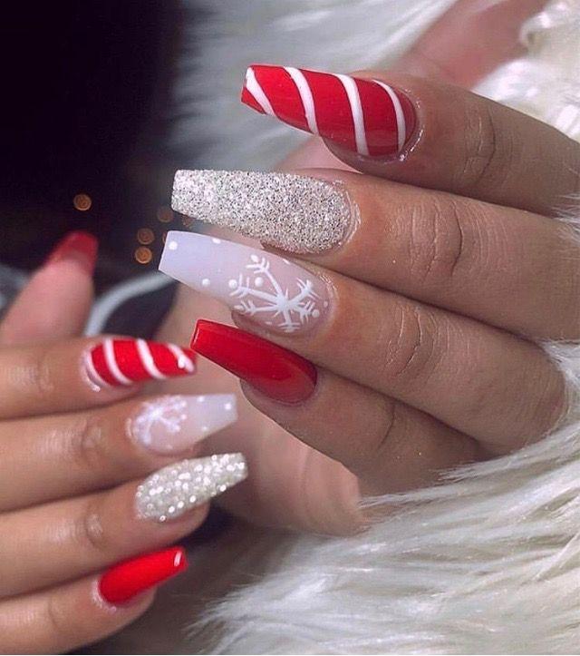 Christmas Spirit Themed Nails Cute Christmas Nails Winter Nails Acrylic Solid Color Nails