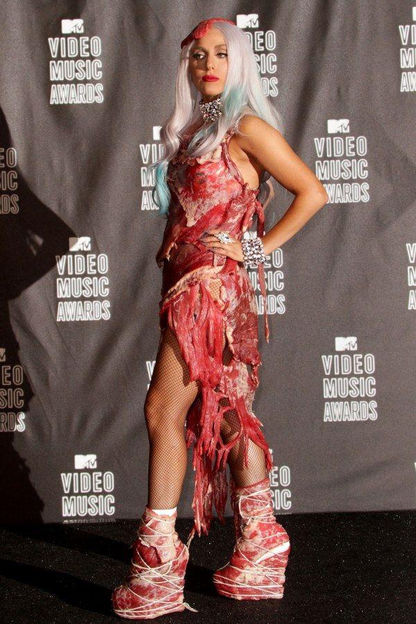 Robe Viande Lady Gaga : viande, Épinglé, Aufeminin