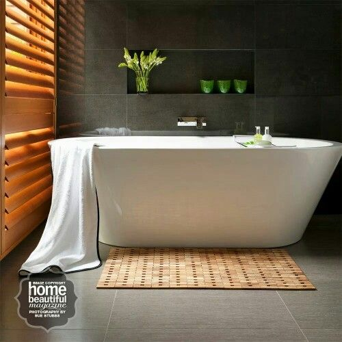 kado lure freestanding bath from reece moody modern bathroom home beautiful magazine - Bath Bathroom