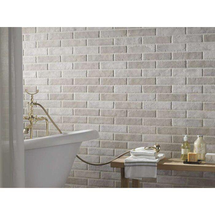 Tribeca 2 X 10 Porcelain Brick Look Wall Floor Tile In 2021 Brick Effect Wall Tiles Brick Tiles Bathroom Brick Effect Tiles