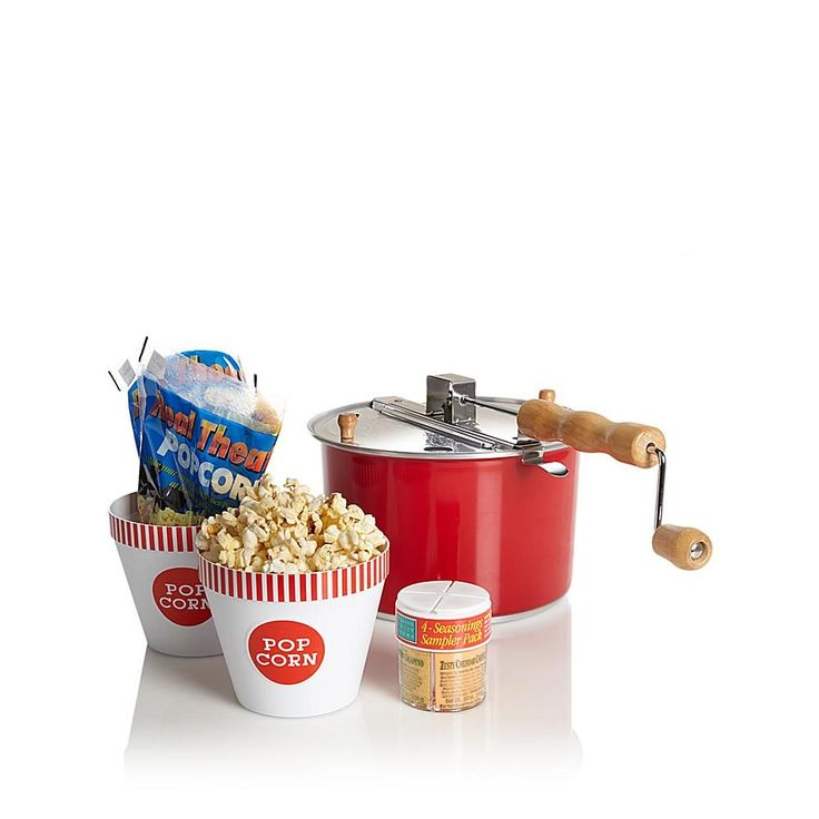 Whirley Pop Color-Changing Popcorn Popper with Popcorn Tubs and Seasoning Samples