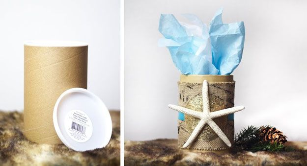 Gift Wrapping Ideas! Bring Home the Beach | http://diyready.com/10-creative-gift-packaging-christmas-gift-wrapping-ideas/