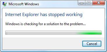 How do I fix the Internet Explorer Has Stopped Working error?