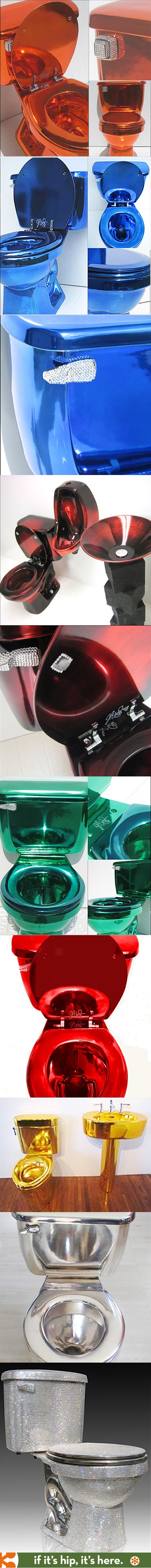 These Color Chromed and Crystallized Toilets are wild!