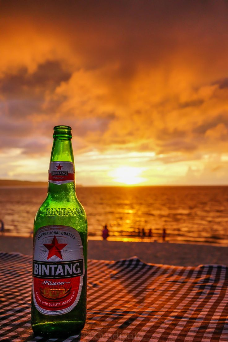 Bali Sunset with Bintang beer