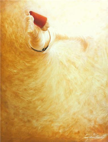 Islamic mysticism. Dervish, oil on canvas / By Gülcan Karadağ