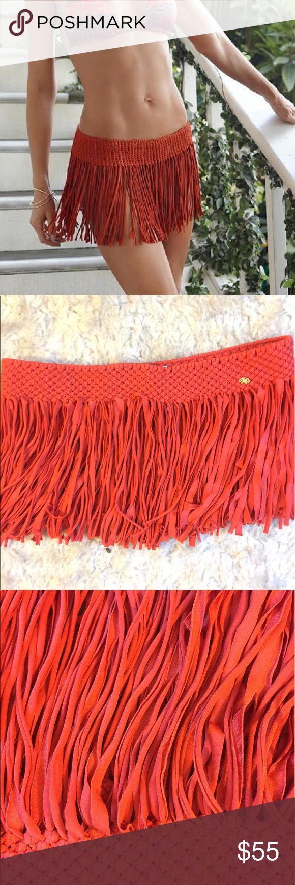 PilyQ sarong fringe bathing suit skirt Never worn. Dolce Vita Swim Sarongs