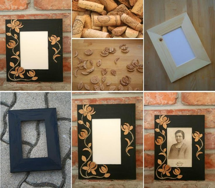 DIY Cork Flower Picture Frame DIY Cork Flower Picture Frame