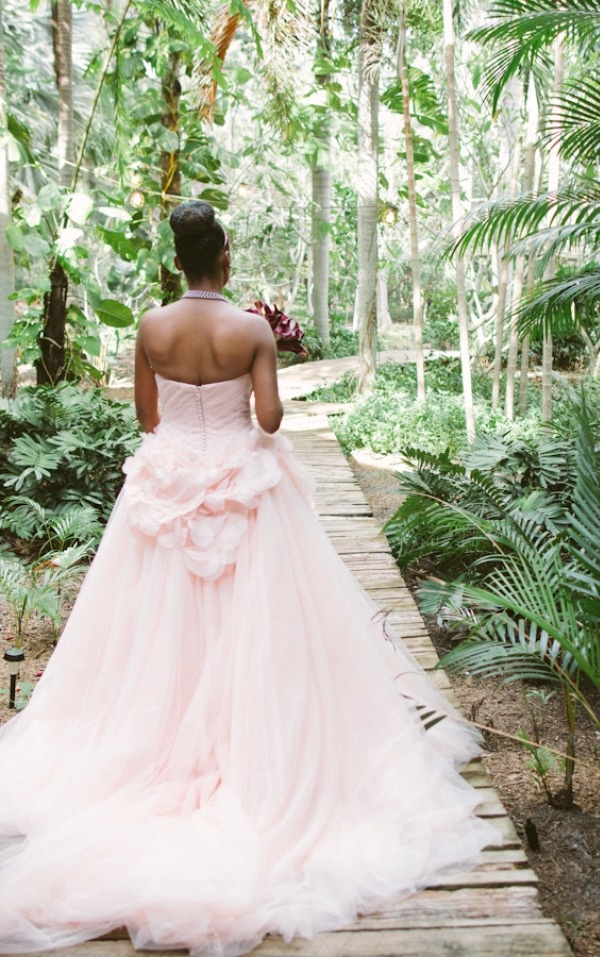 Jewfish key wedding from sophan theam photography blush for Vera wang beach wedding dress