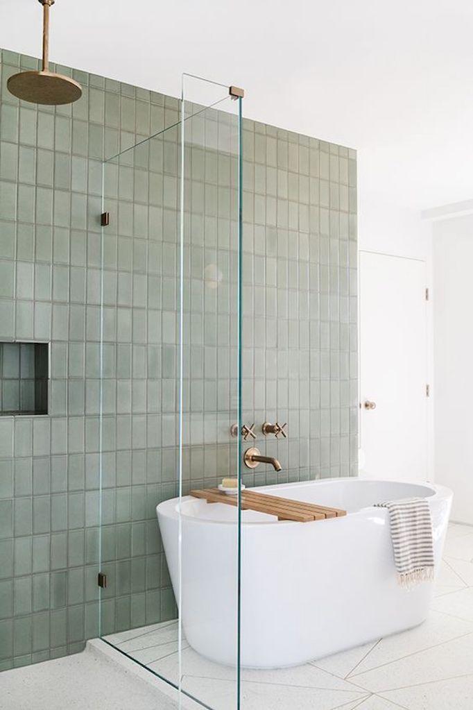 2018 Trend Sage Green Bathroomsbecki Owens Diseno De Banos Remodelacion De Banos Cuartos De Banos Pequenos