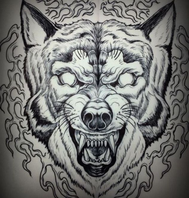 Necktattoosdesigns Traditionaljapanesetattoos Traditional Japanese Tattoos God Animal Tattoos Wolf Tattoos Picture Tattoos