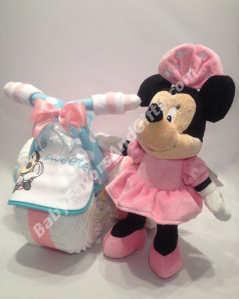 Tricycle Minnie Diaper Cake Instructions