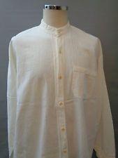 Vtg cotton work chore folk grandad shirt
