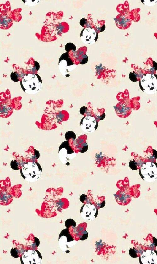 Cute Pink Cell Phone Wallpaper Image Via We Heart It Cartoon Minnie Patterns