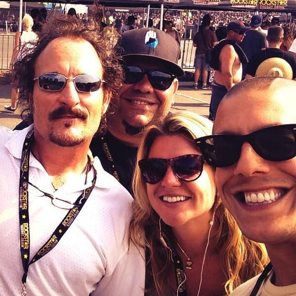Photo of Kim Coates & his friend celebrity   Kim Tommy, -