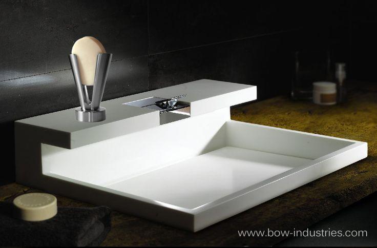 Beau Contemporary Bathroom Sink With Self Cleaning Soap Dish. #contemporary  #bathroom #sink