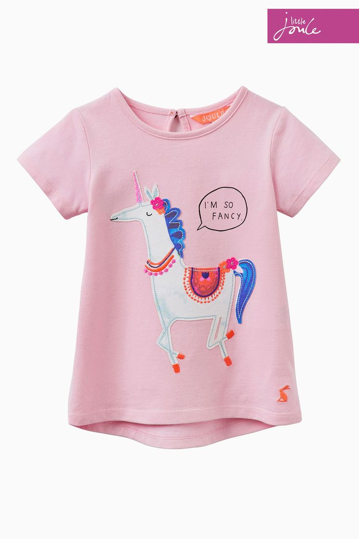 Buy Joules Pink Maggie Unicorn T-Shirt from Next France