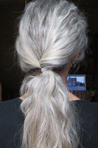 .great gray hair... Looks like mine.                                                                                                                                                      More