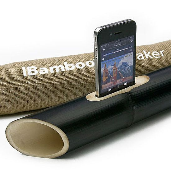 iBamboo - Portable Green Speakers for Your iPhone. LOL! This is such a crazy, cleverly marketed product.