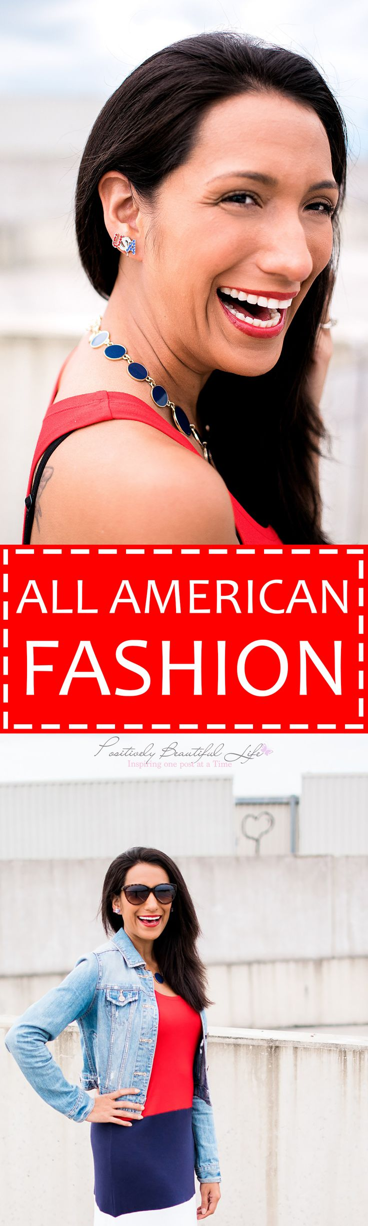 Red, white, and blue fashion that is perfect for Memorial day or the Fourth of July.
