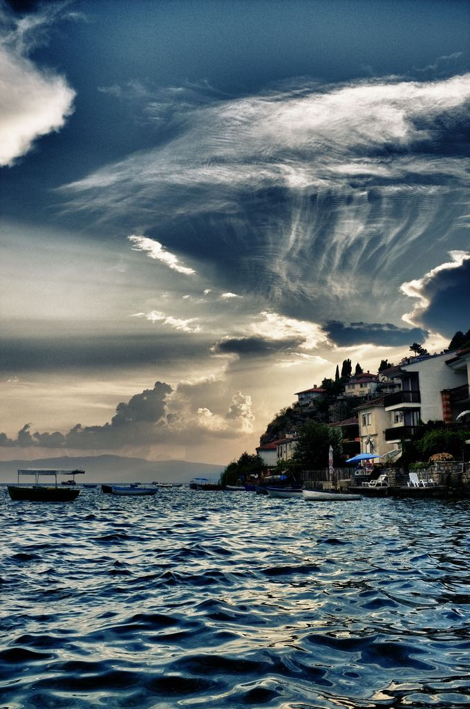 Ohrid, Macedonia, Ohrid Lake, Europes oldest and deepest lake.