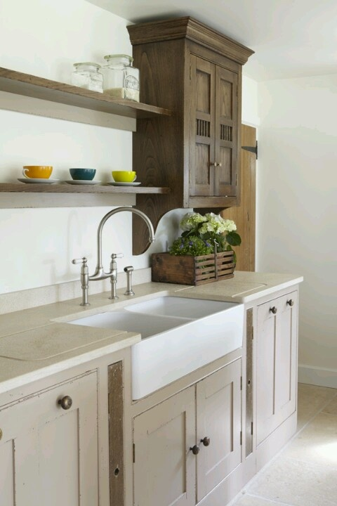 274 best images about kitchens on pinterest open shelving swedish kitchen and stove - Kitchen sink in french ...