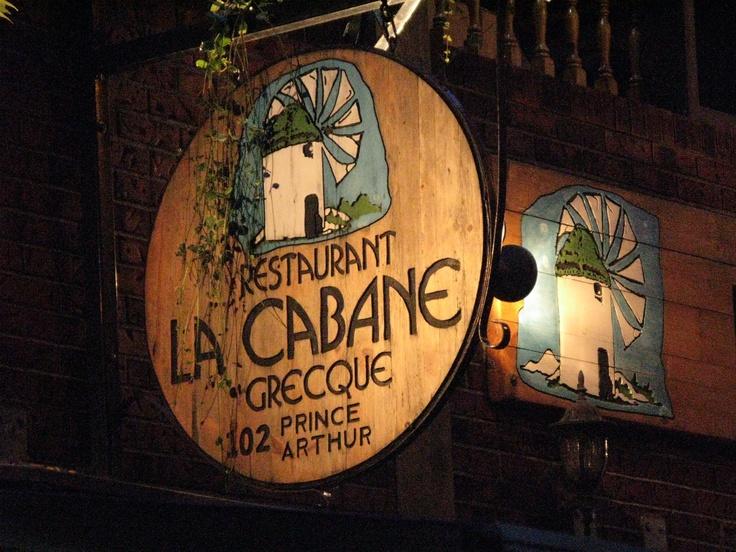 Montreal Sign, La Cabane Grecque