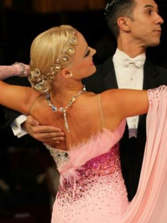 Tania Kehlet | Dancesport standard hair style - looped crown