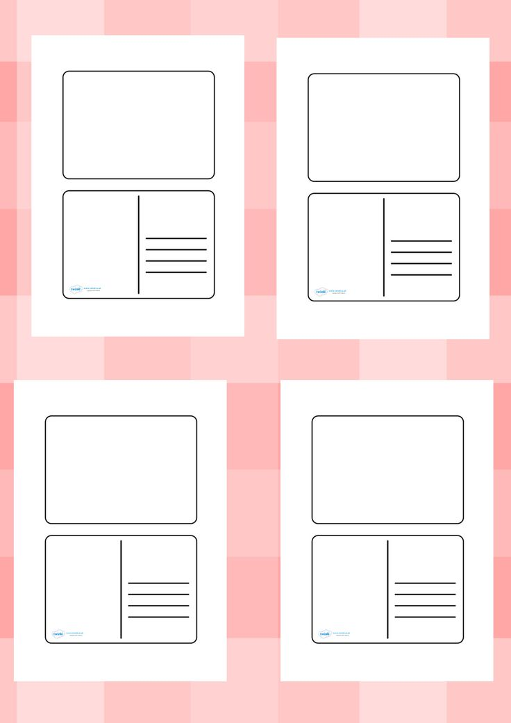 Twinkl Resources >> Blank Postcard Templates >> Printable resources for Primary, EYFS, KS1 and SEN.  Thousands of classroom displays and teaching aids! Class Management, Literacy, English, Writing, Templates, Postcards
